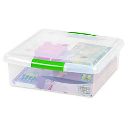IRIS® Store and Slide 25 qt. Underbed Square Storage Containers (Set of 6)