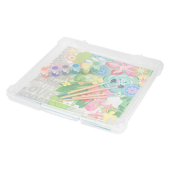 Alternate image 1 for IRIS® Plastic 12-Inch x 12-Inch Scrapbook Storage Cases (Set of 10)
