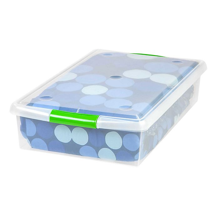 Alternate image 1 for IRIS® 40 qt. Under Bed Store and Slide Store Box (Set of 6)