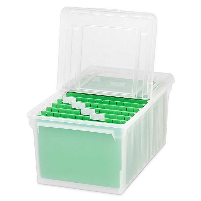 IRIS® Letter Size File Storage Box (Set of 5) | Bed Bath & Beyond