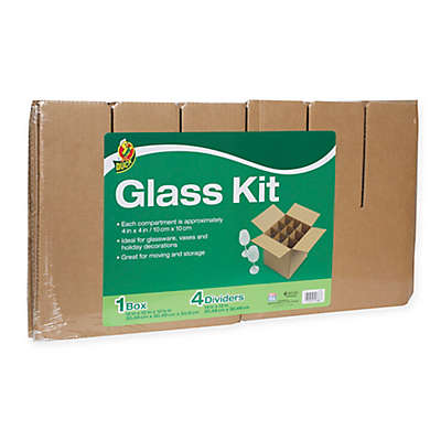 Duck® Glass Kit, 4 Dividers & 1 12 in. x 12 in. Box