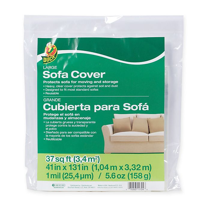 Alternate image 1 for Duck® Large Sofa Cover - Clear, 41in. x 131in.