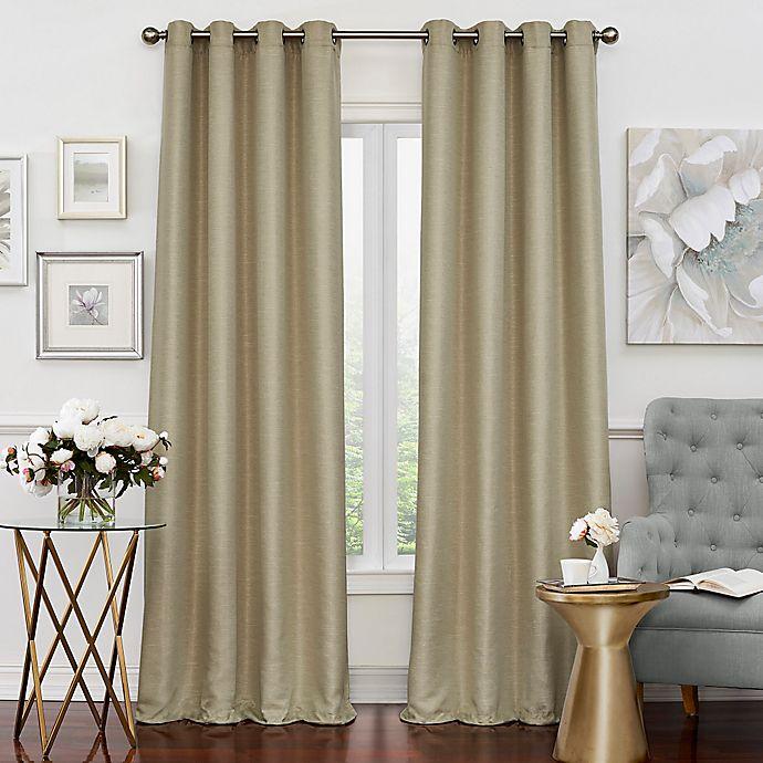 Alternate image 1 for Solar Shield Neilson 108-Inch Grommet Room Darkening Window Curtain Panel in Champagne