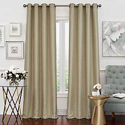 Eclipse Luxor 84-Inch Grommet Room Darkening Window Curtain Panel in Champagne