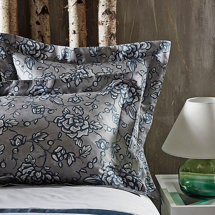 Alternate image 1 for Frette At Home Florenta European Pillow Sham in Ocean