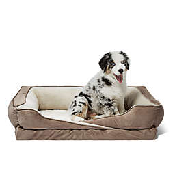 Crisscross Orthopedic Foam Pet bed with Bolster Walls