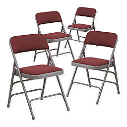 Flash Furniture Fabric 4-Pack Folding Chair in