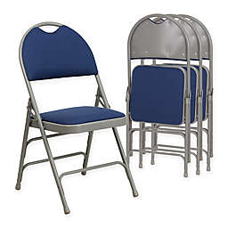 Flash Furniture Fabric 4-Pack Folding Chair