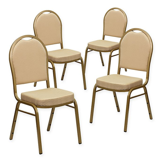 Alternate image 1 for Flash Furniture HERCULES™ Banquet Chairs in Beige (Set of 4)