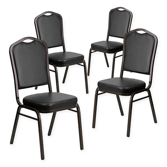 Alternate image 1 for Flash Furniture HERCULES Banquet Chair in Black (Set of 4)