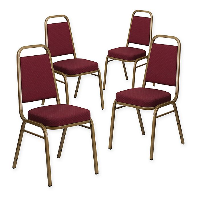Alternate image 1 for Flash Furniture Hercules Banquet Chair in Burgundy/Gold (Set of 4)
