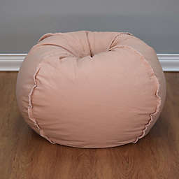 Large Canvas Bean Bag Chair with Exposed Seams
