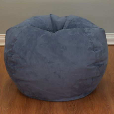 Buy Large Microsuede Bean Bag Chair In Washed Blue From