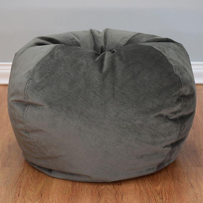 Alternate image 1 for Large Textured Velvet Bean Bag Chair