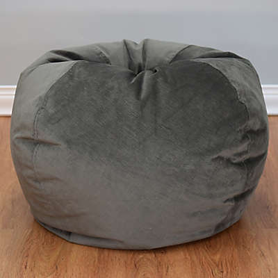 Large Textured Velvet Bean Bag Chair