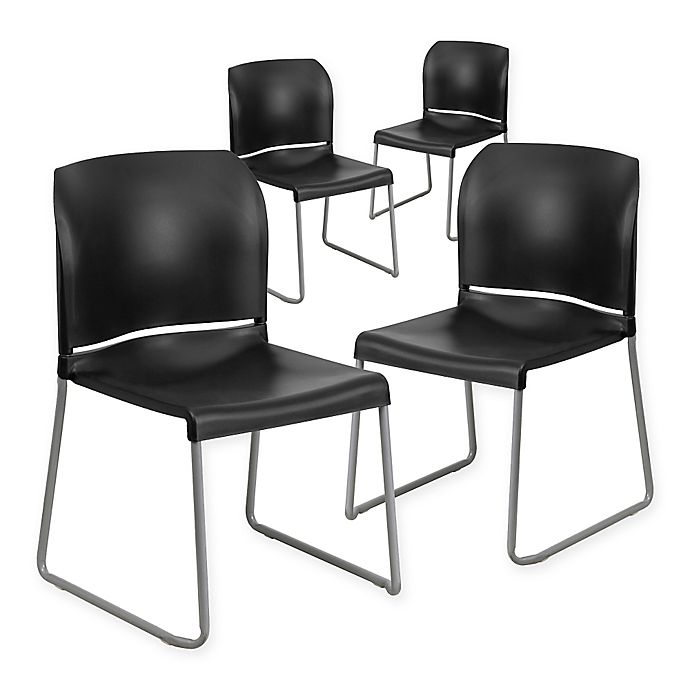 Alternate image 1 for Flash Furniture Hercules Full Back Stack Chairs (Set of 4)