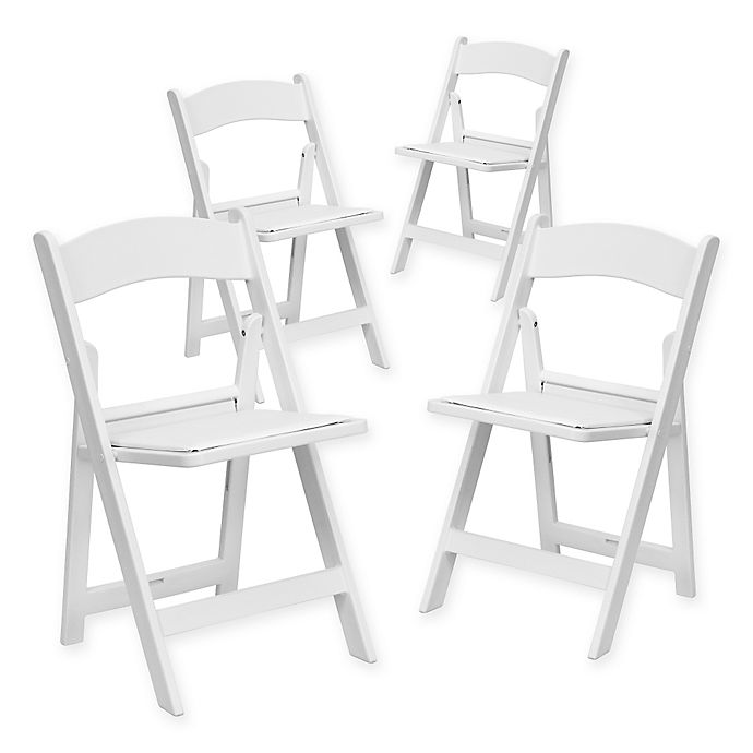 Alternate image 1 for Flash Furniture Hercules Resin Folding Chairs in White (Set of 4)