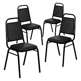 Flash Furniture Hercules Series Black Vinyl Banquet Chair (Set of 4)