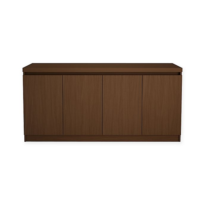Alternate image 1 for Manhattan Comfort Viennese Buffet/Sideboard Table in Nut Brown