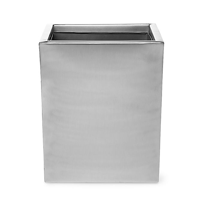 Alternate image 1 for Roselli Trading Modern Wastebasket in Stainless Steel