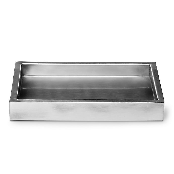 Alternate image 1 for Roselli Trading Amenity Tray in Stainless Steel