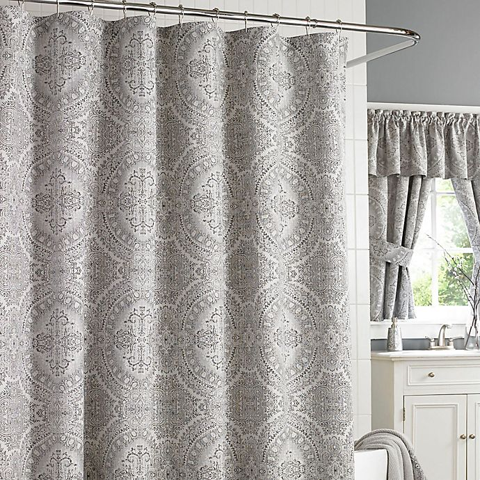 J Queen New York Colette Shower Curtain In Silver