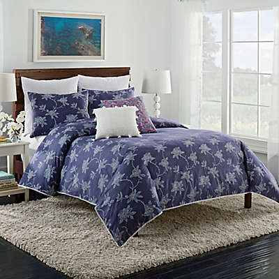Cupcakes and Cashmere Sketch Floral Duvet Cover in Blue