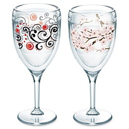 Tervis® Cherry Blossom Wrap and Berry Swirl Wine Glasses (Set of 2)