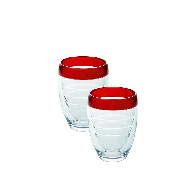 Alternate image 1 for Tervis® 9 oz. Stemless Wine Glasses in Cherry Fizz (Set of 2)