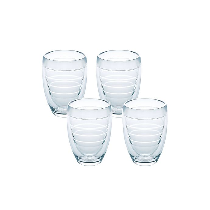 Alternate image 1 for Tervis® 9 oz. Stemless Wine Glasses in Clear (Set of 4)