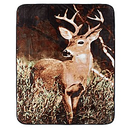Shavel Home Products Deer Country Luxury Oversized Throw Blanket