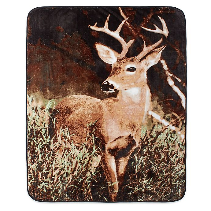 Alternate image 1 for Shavel Home Products Deer Country Luxury Oversized Throw Blanket