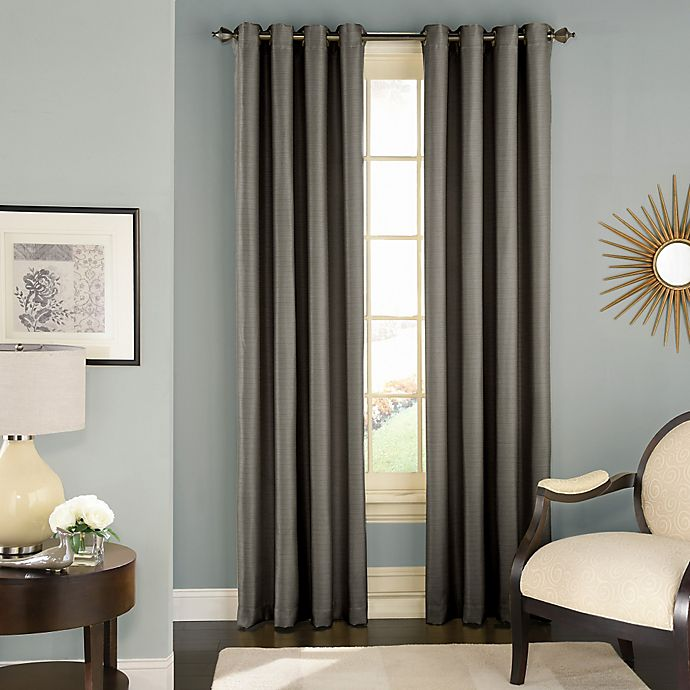 Alternate image 1 for Solar Shield Wilder 108-Inch Grommet Room Darkening Window Curtain Panel in Grey