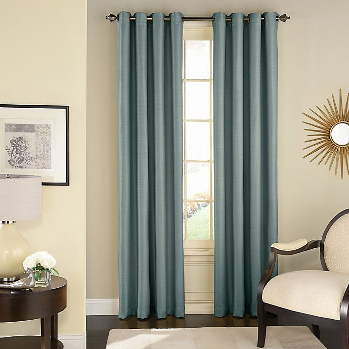 Alternate image 1 for Solar Shield Wilder 108-Inch Grommet Room Darkening Window Curtain Panel in Blue