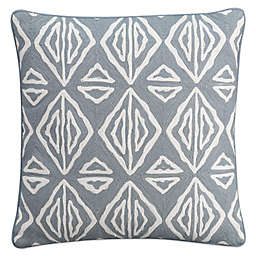 Cupcakes and Cashmere Moroccan Geo Square Throw Pillow in Grey