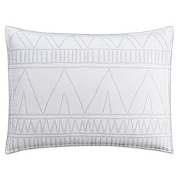 Cupcakes and Cashmere Moroccan Geo Pillow Sham in White