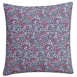 Cupcakes and Cashmere Sketch Floral Square Throw Pillow in Blue