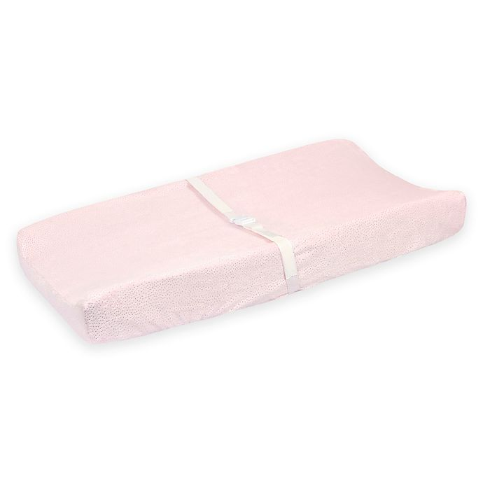 Alternate image 1 for Just Born® Sparkle Velboa Changing Pad Cover in Pink