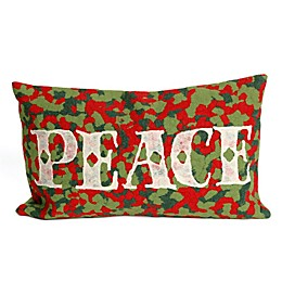 Visions II Peace Rectangle Throw Pillow in Red