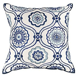 Kas Mosaic 18-Inch Square Throw Pillow in Ivory/Blue