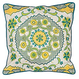 Kas Suzani 18-Inch Square Throw Pillow in Ivory