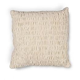 Kas Velvet 18-Inch Square Throw Pillow in Ivory