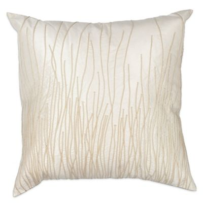 KAS Palms Oblong Throw Pillow in Ivory