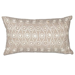 KAS Waves Oblong Throw Pillow in Taupe