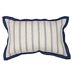 KAS Nautical Stripes Oblong Throw Pillow in Ivory