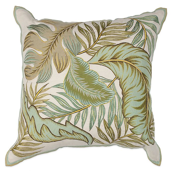 Alternate image 1 for KAS Tropics Square Throw Pillow in Ivory