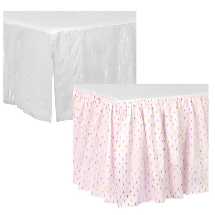 Alternate image 1 for Just Born® Sparkle Crib Skirt