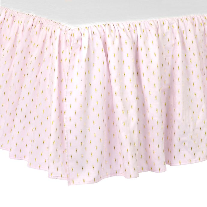 Alternate image 1 for Just Born® Sparkle Crib Skirt in Pink