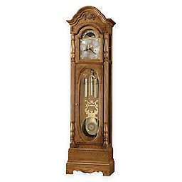 Howard Miller Schultz 79th Anniversary Floor Clock in Golden Oak