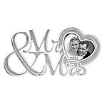 Malden® 3-Inch x 3-Inch  Mr. & Mrs.  Glitter Heart Picture Frame